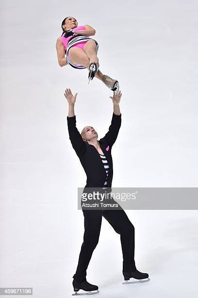 Mari Vartmann and Aaron Van Cleave of Germany compete in the Pairs Short Program during day one of ISU Grand Prix of Figure Skating 2014/2015 NHK...
