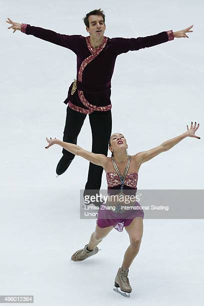 Mari Vartmann and Ruben Blommaert of Germany competes in the Pairs Short Program on day one of Audi Cup of China ISU Grand Prix of Figure Skating...