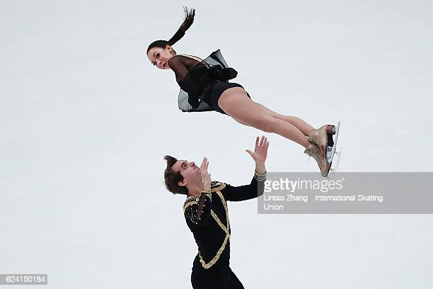 Mari Vartmann and Ruben Blommaert of Germany perform during the Pairs Short Program on day one of Audi Cup of China ISU Grand Prix of Figure Skating...