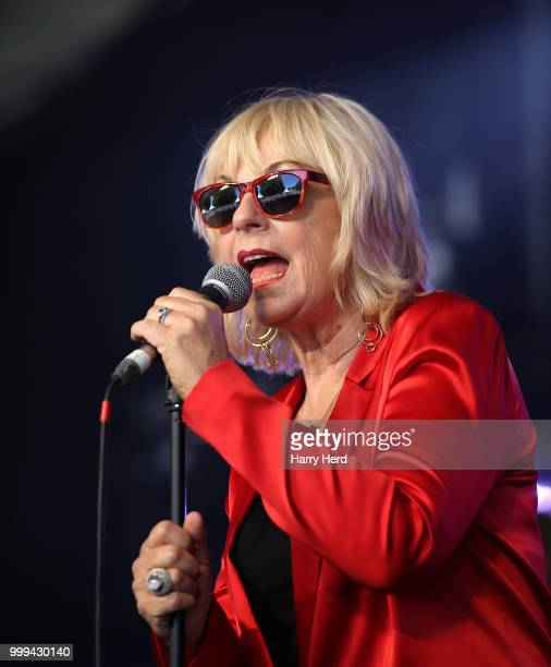 Mari Wilson of Mari Wilson The New Wilsations Performs at Cornbury Festival at Great Tew Park on July 15 2018 in Oxford England