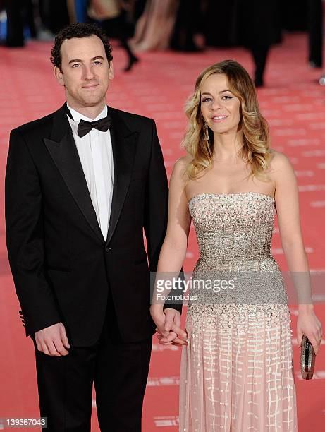 Maria Adanez and David Murphy arrives to Goya Cinema Awards 2012 ceremony at the Palacio Municipal de Congresos on February 19 2012 in Madrid Spain