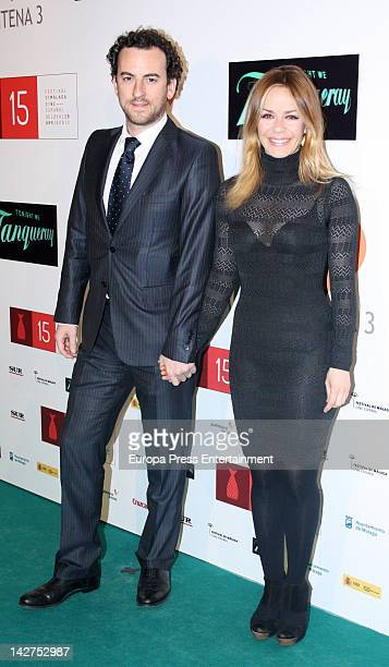 Maria Adanez and David Murphy attend Malaga Film Festival 2012 cocktail presentation at Real Fabrica de Tapices on April 11 2012 in Madrid Spain