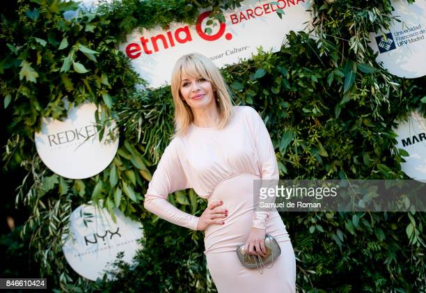 Maria Adanez attends a photocall at the Moises Nieto show during the MercedesBenz Fashion Week Madrid Spring/Summer 2018 on September 13 2017 in...