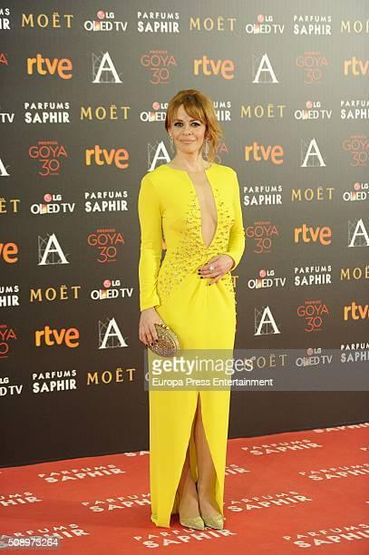 Maria Adanez attends Goya Cinema Awards 2016 at Madrid Marriott Aud