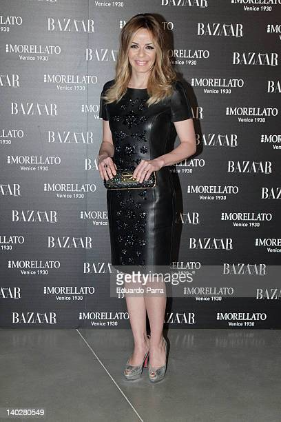 Maria Adanez attends Harper's Bazaar magazine party photocall at Matadero Madrid on March 1 2012 in Madrid Spain