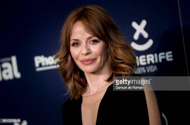 Maria Adanez attends the 'Cadena Dial' awards photocall on March 16 2017 in Tenerife Spain