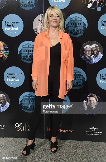 Maria Adanez attends the Elton John concert at the Royal Theater on July 20 2015 in Madrid Spain