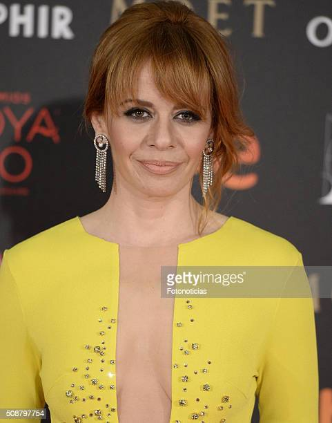 Maria Adanez attends the Goya Cinema Awards 2016 Ceremony at Madrid Marriott Auditorium on February 6 2016 in Madrid Spain