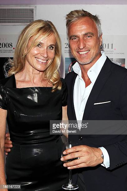 Maria Ahnebrink and David Ginola attend a party for the 160th anniversary of Tissot at Supperclub on October 17 2013 in London England