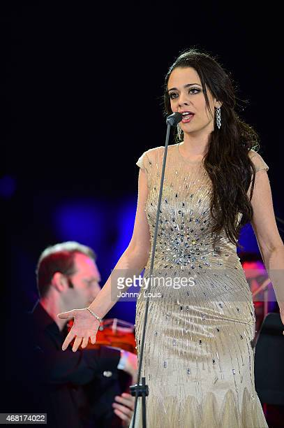 Maria Aleida onstage performs during the Miami Beach 100 Centennial Concert on March 26 2015 in Miami Beach Florida