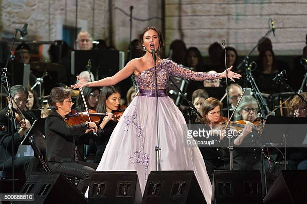 Maria Aleida performs at Madison Square Garden on December 9 2015 in New York City