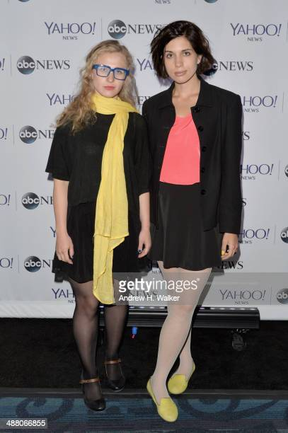 Maria Alyokhina and Nadezhda Tolokonnikova of Pussy Riot attend the Yahoo News/ABCNews PreWhite House Correspondents' dinner reception preparty at...
