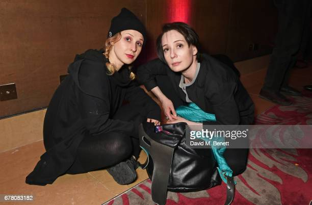 Maria Alyokhina of Pussy Riot and cast member Chulpan Khamatova attend the press night after party for The Sovremennik Theatre Season at the May Fair...