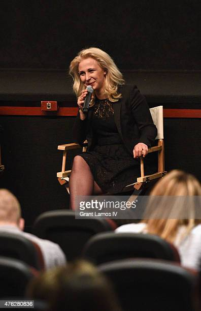 Maria Alyokhina of Pussy Riot attends Greenwich Film Festival 2015 A Conversation With Pussy Riot at Bow Tie Cinema on June 6 2015 in Greenwich...