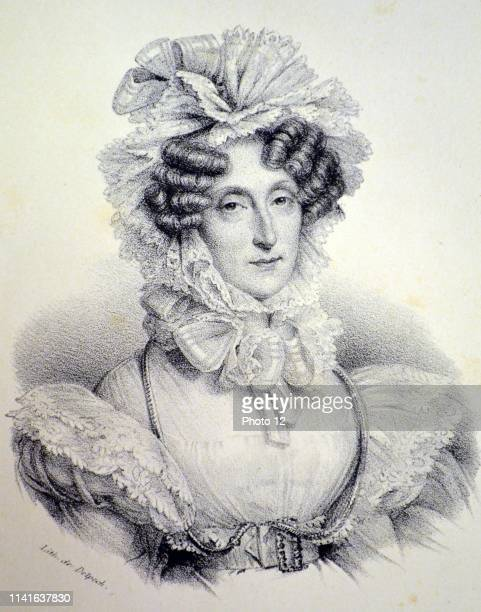 Maria Amalia of Naples and Sicily Queen consort of Louis Philippe I of France 18301848 Lithograph Paris c1840