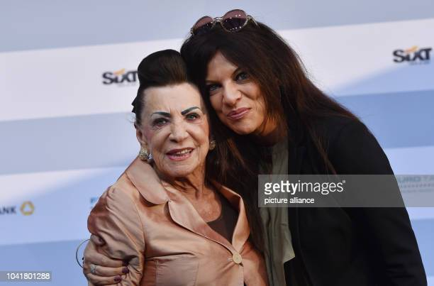 Maria and Alice Brauner pose at the Produzentenfest 2015 organised by the The German Producers Alliance Film and Television at Haus der Kulturen der...
