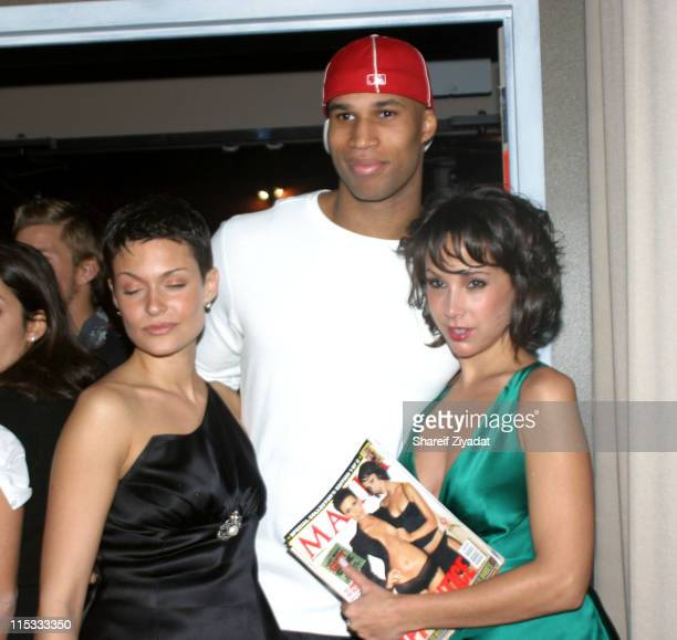 Maria and Jennifer C from the 'Apprentice' Season 2 and Richard Jefferson of The NJ Nets