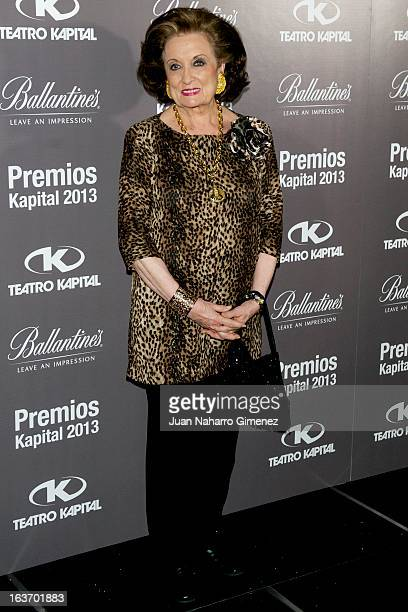 Maria Angeles Sanz attends the XI Teatro Kapital Awards at Teatro Kapital on March 14 2013 in Madrid Spain