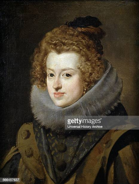 Maria Anna of Spain , Infanta of Spain, Holy Roman Empress, Queen of Hungary and Bohemia, and wife of Ferdinand III, Holy Roman Emperor. Painted by...