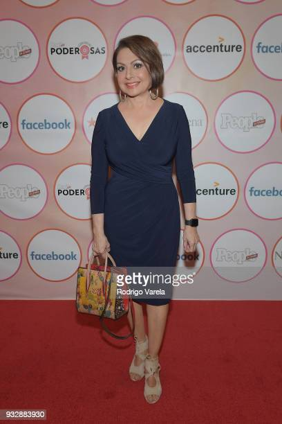 Maria Antonieta Collins arrives at the People en Espanol's 25 Most Powerful Women Luncheon 2018 on March 16 2018 in Miami Florida