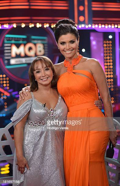 Maria Antonieta de las Nieves and Chiquinquira Delgado participate in Univision's Mira Quien Baila Premiere on September 9 2012 in Miami Florida