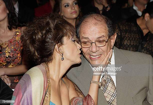 Maria Antonieta de las Nieves and her husband Gabriel Fernandez at the premiere of the Telemundo soap opera ''Dame Chocolate'' on March 5 2007 in...
