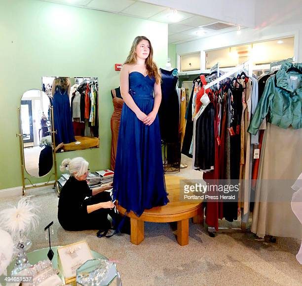 Maria Antonieta tailors a prom dress for Olivia Papi of South Portland at Maria Antonieta Couture in Portland on May 1 2014
