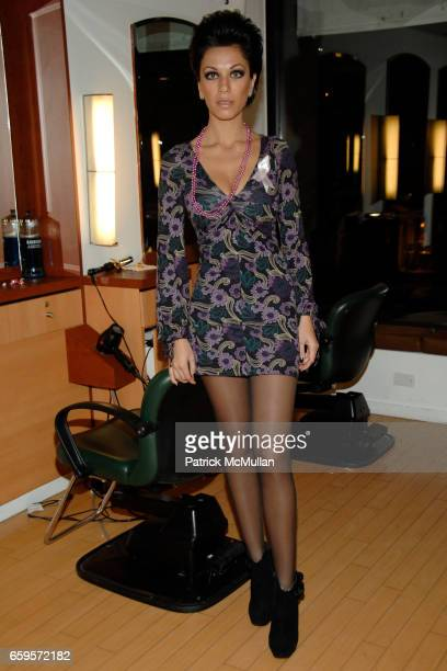 """Maria Aronova attends Sofia's """"Hair for Health"""" Annual Party at the Rodolfo Valentin Salon and Spa on October 11 2009 in New York City"""