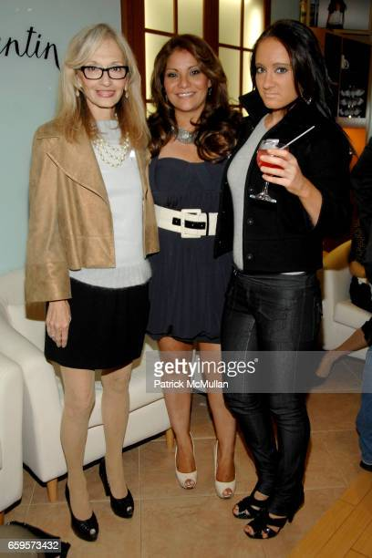 "Maria Ashe, Eva Martinez and Amanda Ashe attend Sofia's ""Hair for Health"" Annual Party at the Rodolfo Valentin Salon and Spa on October 11, 2009 in..."