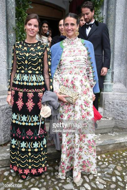 Maria Astrid Princess of Liechtenstein and guest during the wedding of Prince Konstantin of Bavaria and Princess Deniz of Bavaria born Kaya at the...