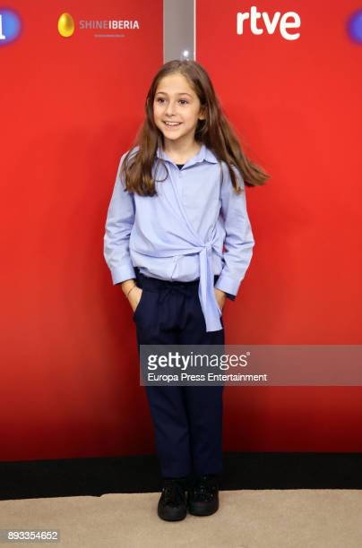 Maria attends the presentation of a new seson of 'Masterchef Junior' at TVE studios on December 14 2017 in Madrid Spain