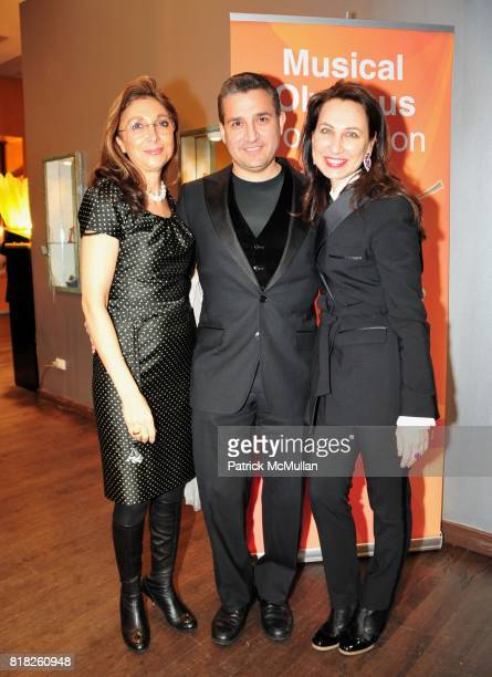 Maria Azarm, Joseph Saline and Irina Nikitina attend MUSICAL OLYMPUS FESTIVAL Presents SIX RISING STARS After-Party at Helen Yarmak Studio on...