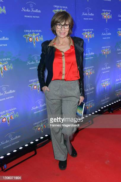 Maria Bachmann attends the premiere of Totem by Cirque du Soleil at Theresienwiese on February 13 2020 in Munich Germany