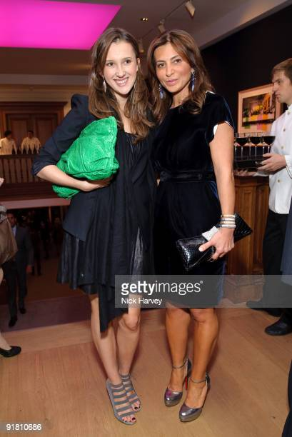 Maria Baibakova and Ella Krasner attend reception hosted by Graff held in aid of FACET at Christie's King Street on October 12 2009 in London England