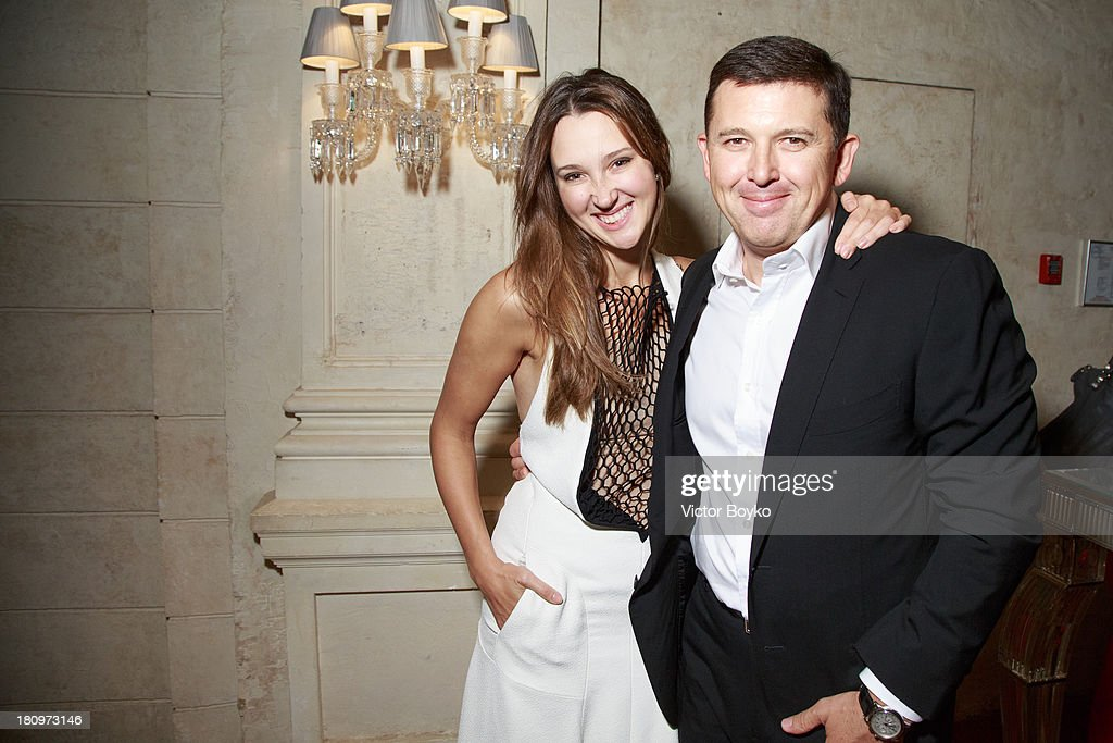 Maria Baibakova and Oleg Baibakov attends the dinner celebrating the opening of Vadim Zakharov's 'Dead Languages Dance' special project as part of the 5th Moscow Modern Art Biennale on September 18, 2013 in Moscow, Russia.