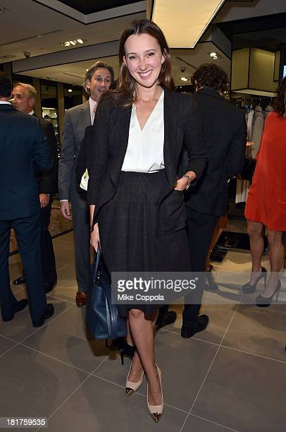 Maria Baibakova attends HUGO BOSS celebrates Columbus Circle BOSS flagship opening featuring premiere of 'Anthropocene' by Marco Brambilla on...