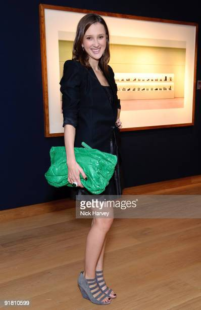 Maria Baibakova attends reception hosted by Graff held in aid of FACET at Christie's King Street on October 12 2009 in London England