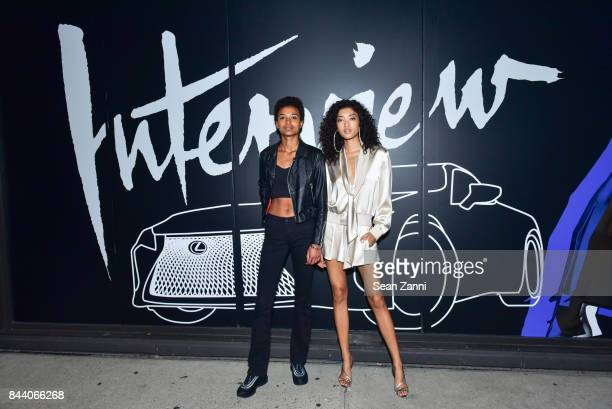 Maria Bailey and Aqua Parios attend Interview Lexus Celebrate September Issue on September 7 2017 in New York City