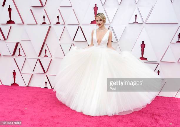 Maria Bakalova attends the 93rd Annual Academy Awards at Union Station on April 25, 2021 in Los Angeles, California.