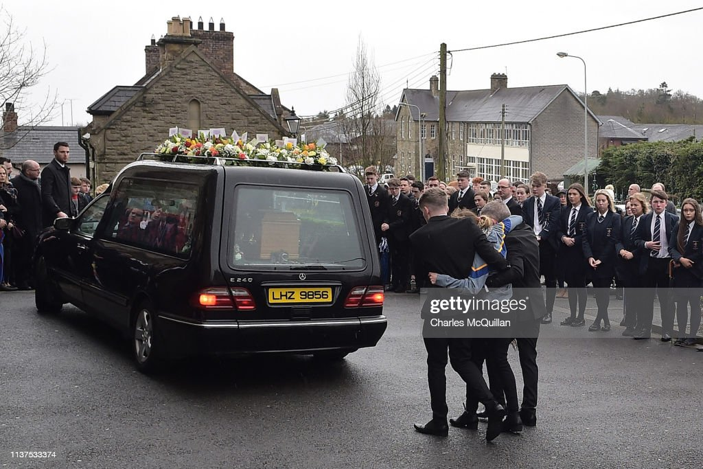 GBR: Funeral Of St Patrick's Day Disco Crush Victim Morgan Barnard