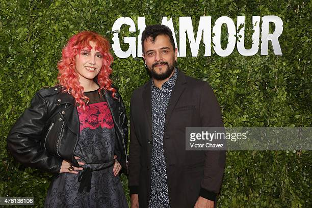 Maria Barracuda and Jorge 'Chiquis' Amaro of Jot Dog attend the Hot Pursuit Mexico City Premiere red carpet at Cinepolis Plaza Carso on June 22 2015...