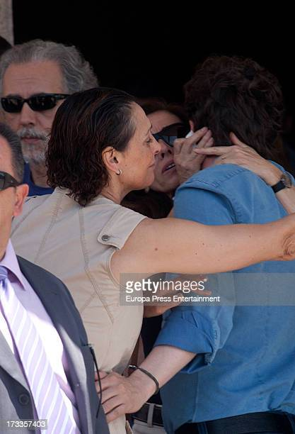 Maria Barranco Gabino Diego Ana Belen and David Trueba attends the funeral chapel for the journalist Concha Garcia Campoy at La Paz Morgue on July 12...