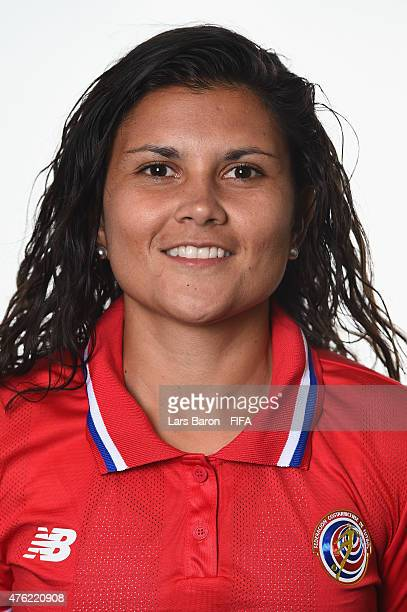 Maria Barrantes of Costa Rica poses during the FIFA Women's World Cup 2015 portrait session at Sheraton Le Centre on June 6 2015 in Montreal Canada