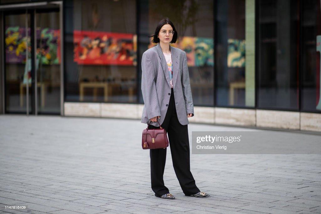 Street Style - Duesseldorf - May 05, 2019 : News Photo