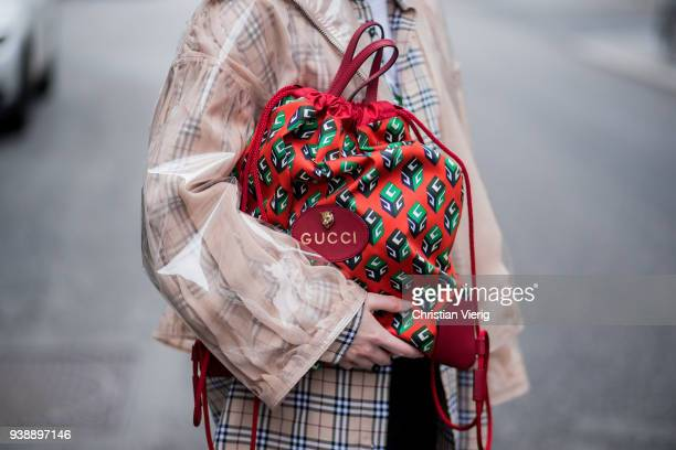 Maria Barteczko wearing transparent vinyl jacket Valentino brown checked shirt Burberry white printed top MUF10 black skinny jeans Madewell bordeaux...