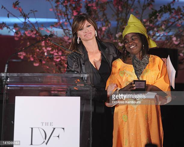 Maria Bartiromo and Chouchou Namegabe attend the 3rd annual Diane Von Furstenberg awards at the United Nations on March 9 2012 in New York City