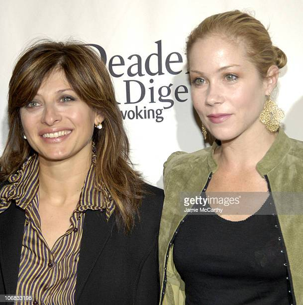 Maria Bartiromo and Christina Applegate during Christina Applegate and Petra Nemcova Honored at Reader's Digest and The Ad Council's 2nd Annual...