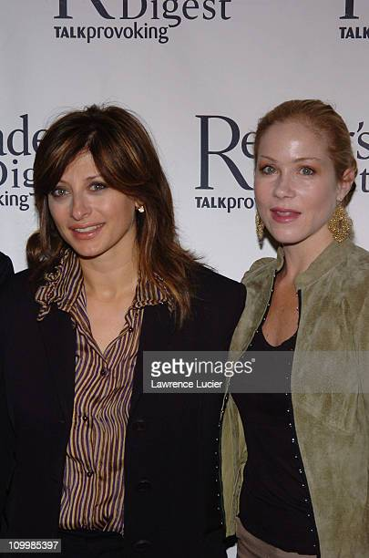 Maria Bartiromo and Christina Applegate during Second Annual Caring Companies Luncheon Honors Christina Applegate and Petra Nemcova at Cipriani's...