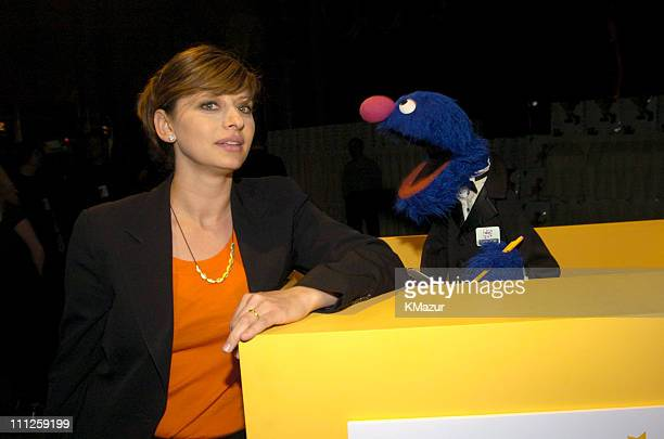 Maria Bartiromo and Grover during Diane Sawyer and Elmo Host Sesame Workshop's 2nd Annual Benefit Gala at Cipriani in New York City New York United...