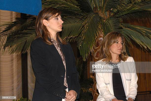 Maria Bartiromo and Suzy Welch attend The Week hosts Women in Power Views from the Top Sponsored by UBS at Four Seasons on July 19 2005 in New York...